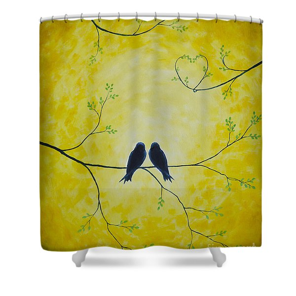 Spring Is A Time Of Love Shower Curtain by Veikko Suikkanen