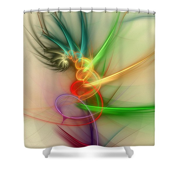 Spring Power Shower Curtain by Anastasiya Malakhova