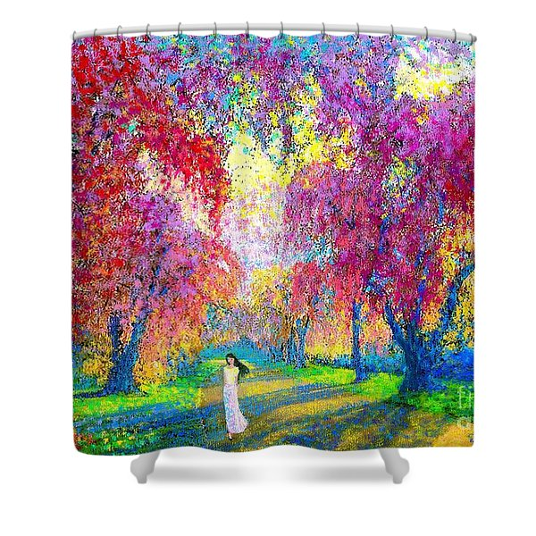 Spring Rhapsody Shower Curtain by Jane Small