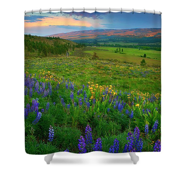Spring Storm Passing Shower Curtain by Mike  Dawson