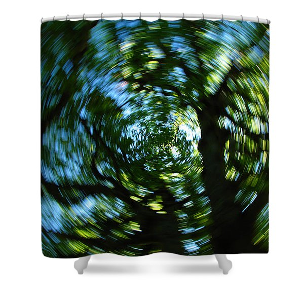Spring Tree Carousel Shower Curtain by Juergen Roth