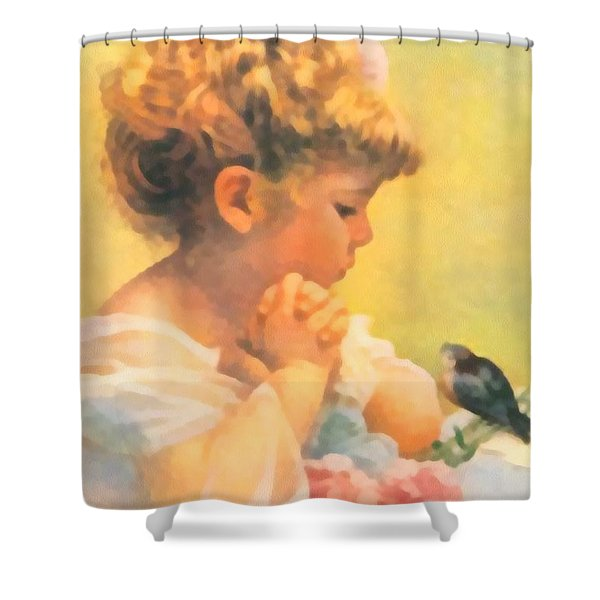 Springtime of Life Shower Curtain by Bessie Pease Gutmann