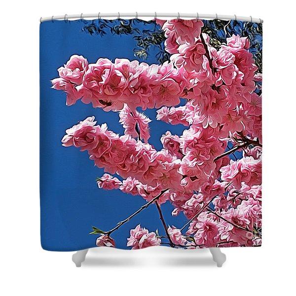 Springtime Pink Shower Curtain by Kaye Menner