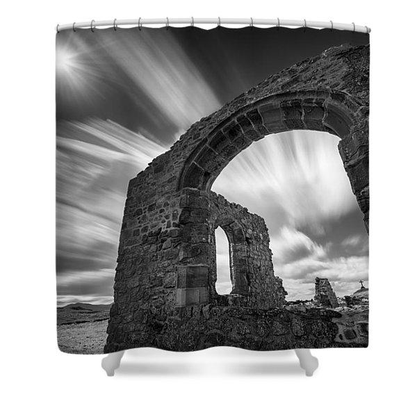 St Dwynwen's Church Shower Curtain by Dave Bowman