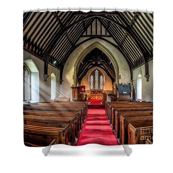 St Johns Church Shower Curtain by Adrian Evans