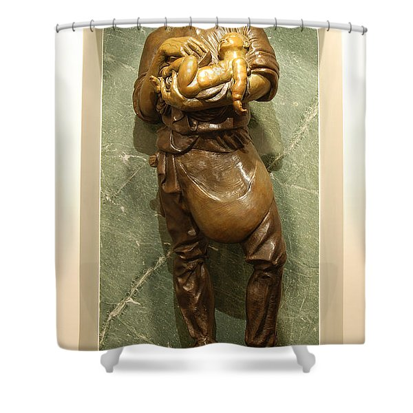 St Joseph the Worker Shower Curtain by Philip Ralley