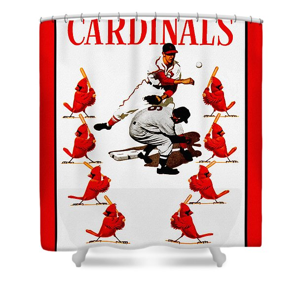 St Louis Cardinals Shower Curtains For Sale