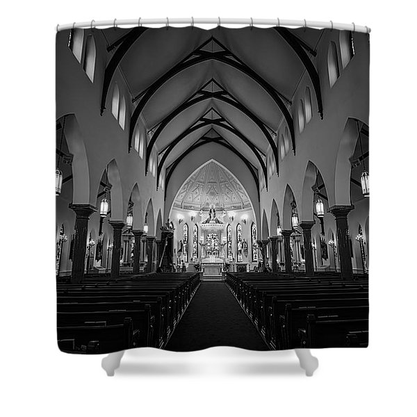 St Patricks Cathedral Fort Worth Shower Curtain by Joan Carroll