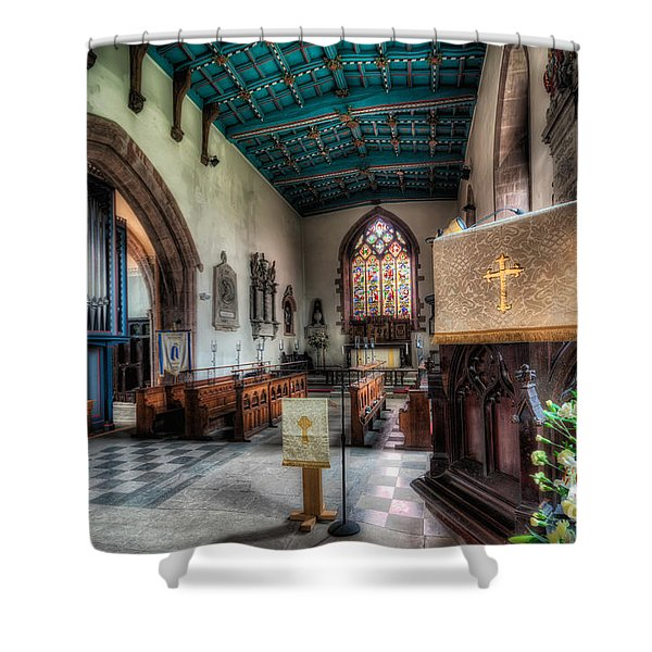 St Peter's Church Shower Curtain by Adrian Evans