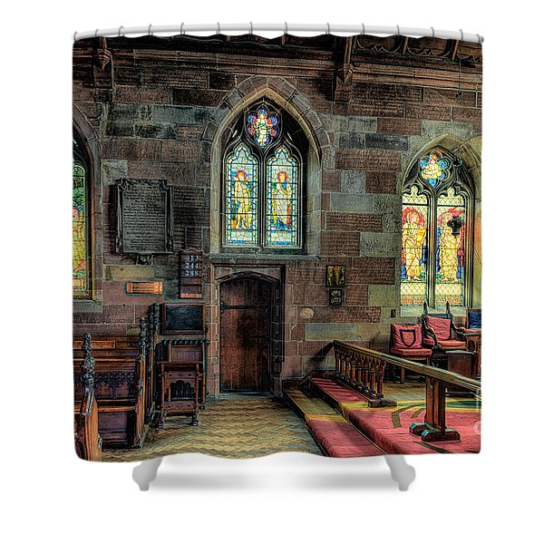 Stained Glass Shower Curtain by Adrian Evans