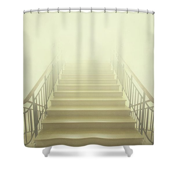 Stairway To Heaven Shower Curtain by Evelina Kremsdorf