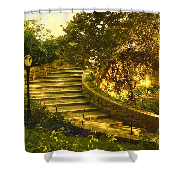 Stairway To Nirvana Shower Curtain by Madeline Ellis