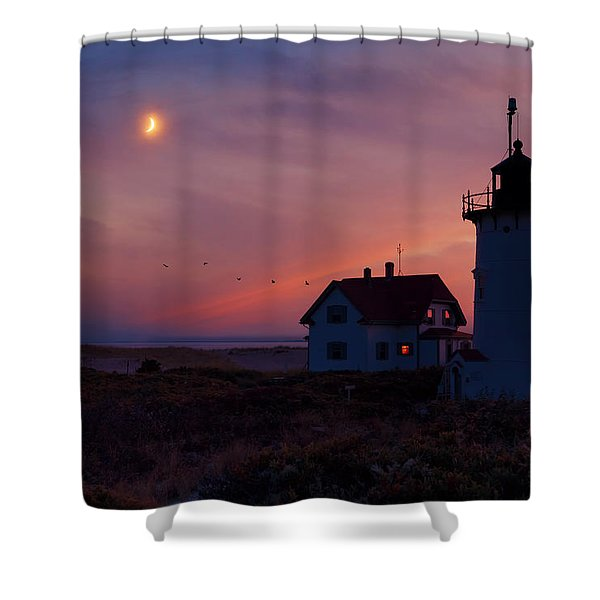 Standing Guard Shower Curtain by Bill  Wakeley