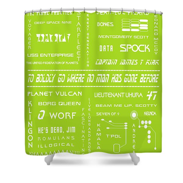 Star Trek Remembered in Green Shower Curtain by Nomad Art And  Design