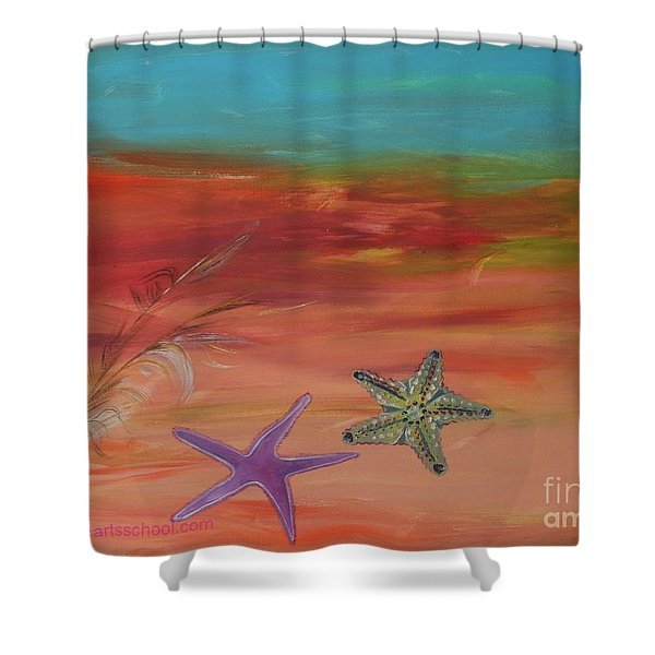 STARFISH Shower Curtain by PainterArtist FIN