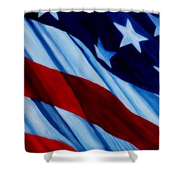 STARS and BARS Shower Curtain by Julie Brugh Riffey