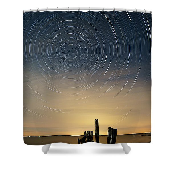 Startrails 2 Shower Curtain by Benjamin Reed