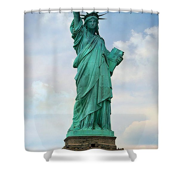 Statue Of Liberty Shower Curtain by Stephen Stookey