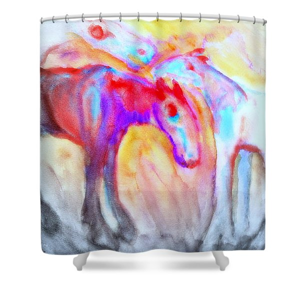 staying alive Shower Curtain by Hilde Widerberg