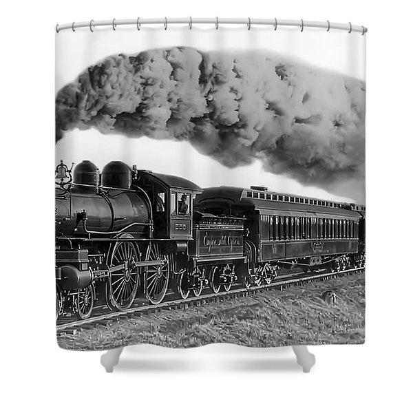 Steam Locomotive No. 999 - C. 1893 Shower Curtain by Daniel Hagerman