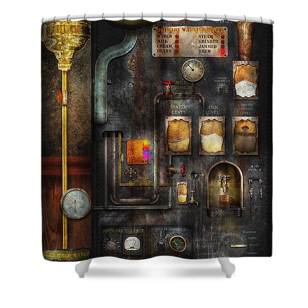 Steampunk - All that for a cup of coffee Shower Curtain by Mike Savad