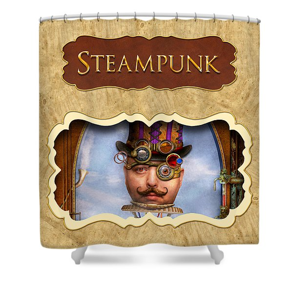 Steampunk Button Shower Curtain by Mike Savad