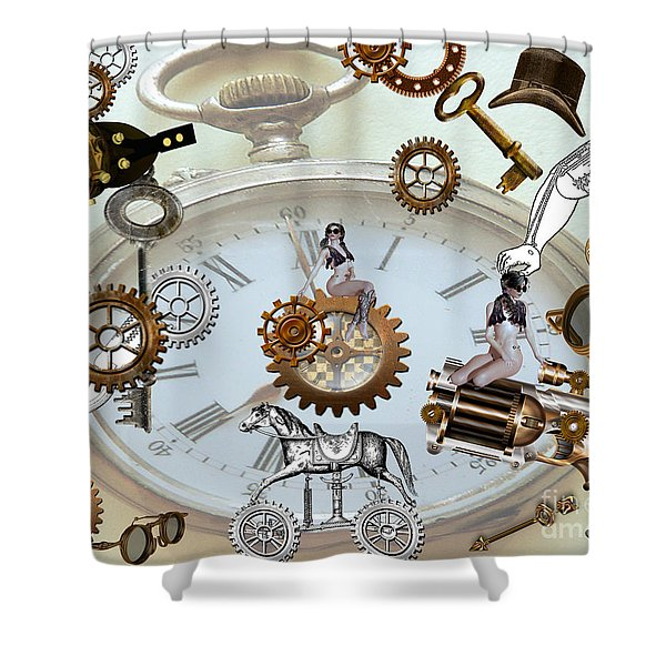 Steampunk Shower Curtain by Cheryl Young