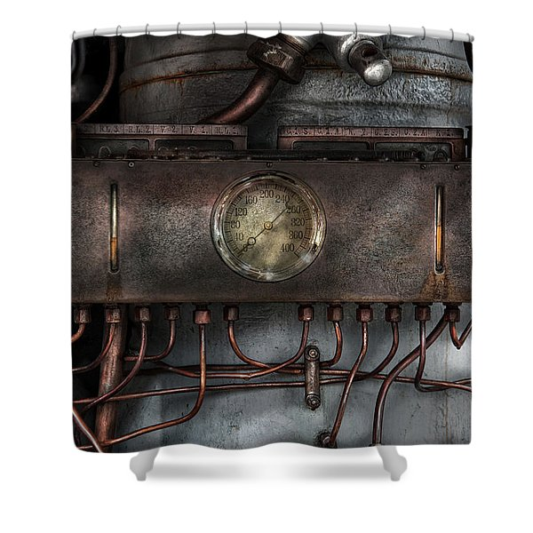 Steampunk - Connections   Shower Curtain by Mike Savad