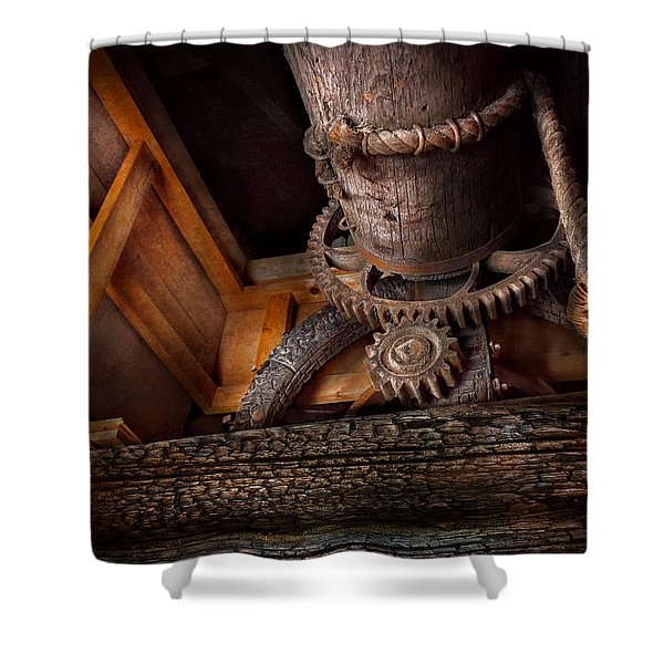 Steampunk - Gear - Out of order  Shower Curtain by Mike Savad