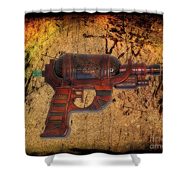 Steampunk - Gun - Ray Gun Shower Curtain by Paul Ward