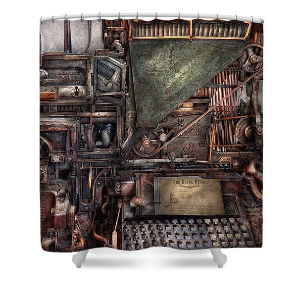 Steampunk - Machine - All the bells and whistles  Shower Curtain by Mike Savad