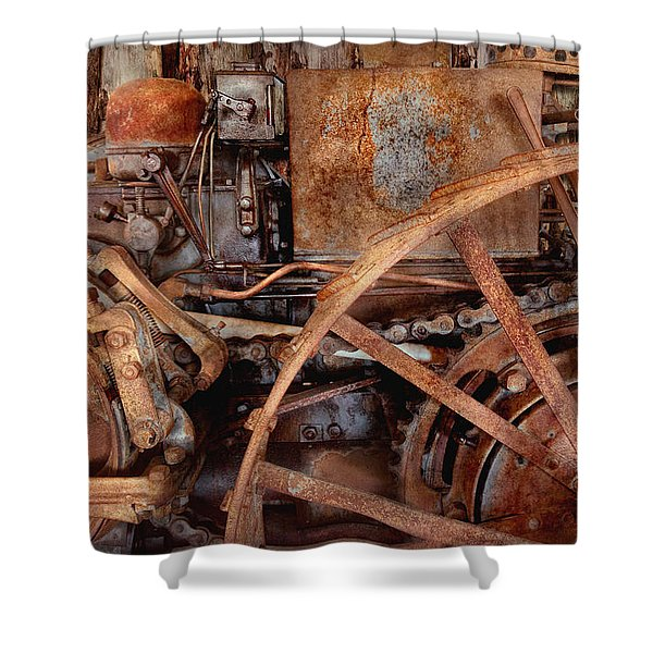 Steampunk - Machine - The Industrial Age Shower Curtain by Mike Savad