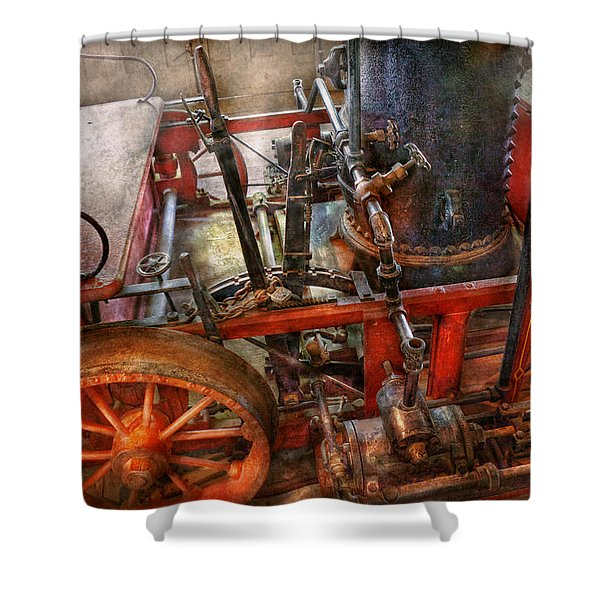 Steampunk - My transportation device Shower Curtain by Mike Savad