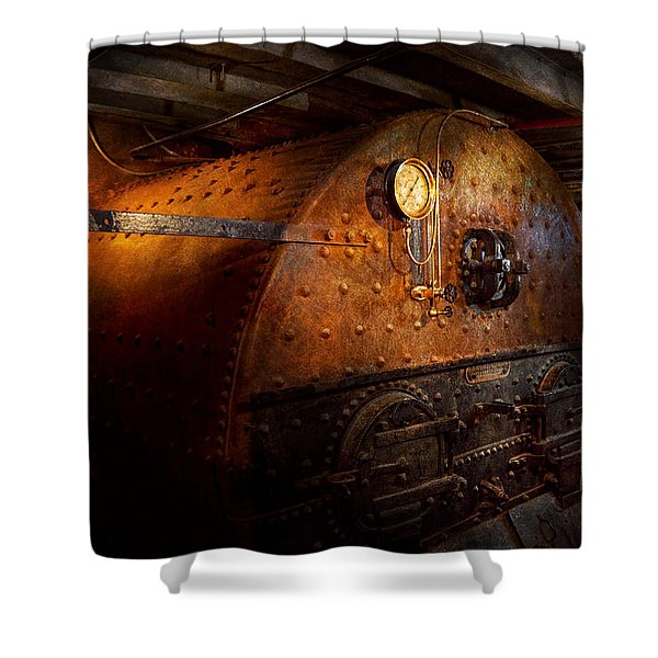 Steampunk - Plumbing - The home of a stoker  Shower Curtain by Mike Savad