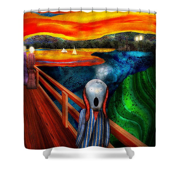 Steampunk - The scream Shower Curtain by Mike Savad