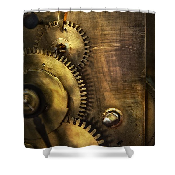 Steampunk - Toothy  Shower Curtain by Mike Savad