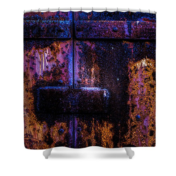 Steel Door Number Three Shower Curtain by Bob Orsillo