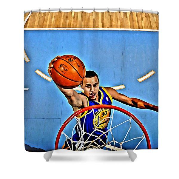Steph Curry Shower Curtain by Florian Rodarte