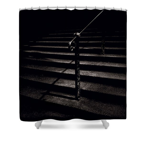 Steps To Advocate's Close Shower Curtain by Dave Bowman