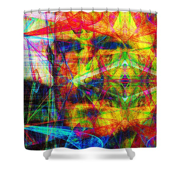 Steve Jobs Ghost In The Machine 20130618 Long Shower Curtain by Wingsdomain Art and Photography
