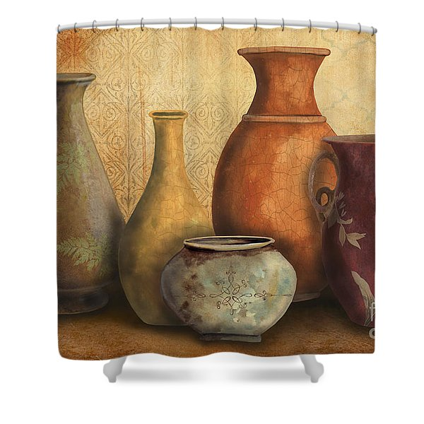 Still Life-C Shower Curtain by Jean Plout