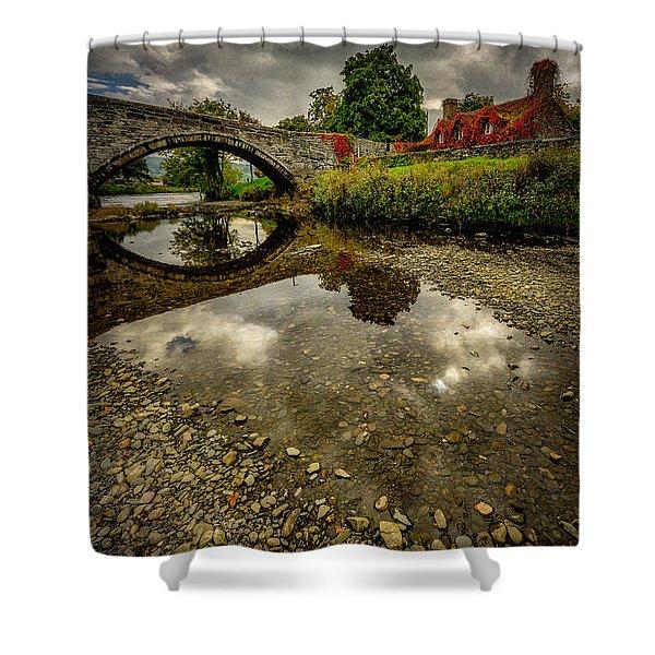 Stone Bridge Shower Curtain by Adrian Evans
