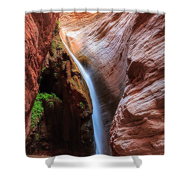 Stone Creek Fall Shower Curtain by Inge Johnsson