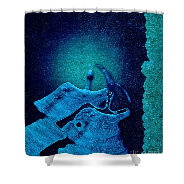 Stone Men 29 C02c - Love Rythm Shower Curtain by Variance Collections