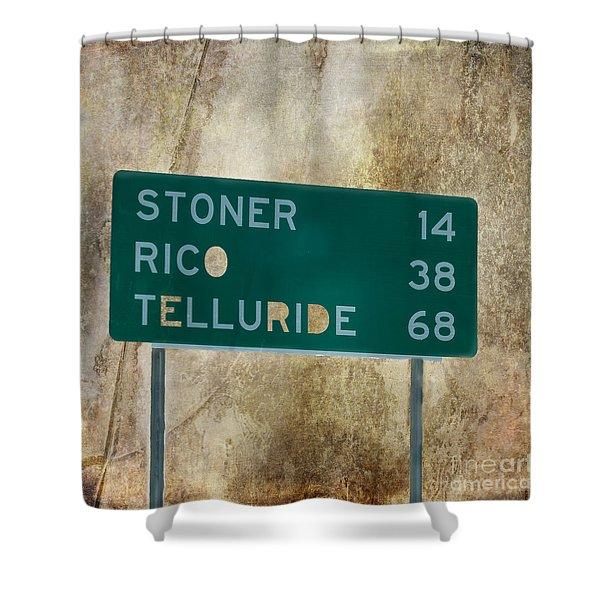 Stoner Rico Telluride Shower Curtain by Janice Rae Pariza