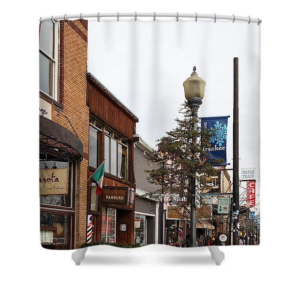 Storefront Shops In Truckee California 5d27490 Shower Curtain by Wingsdomain Art and Photography