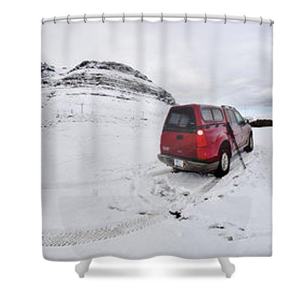 Storm Rider Shower Curtain by Evelina Kremsdorf