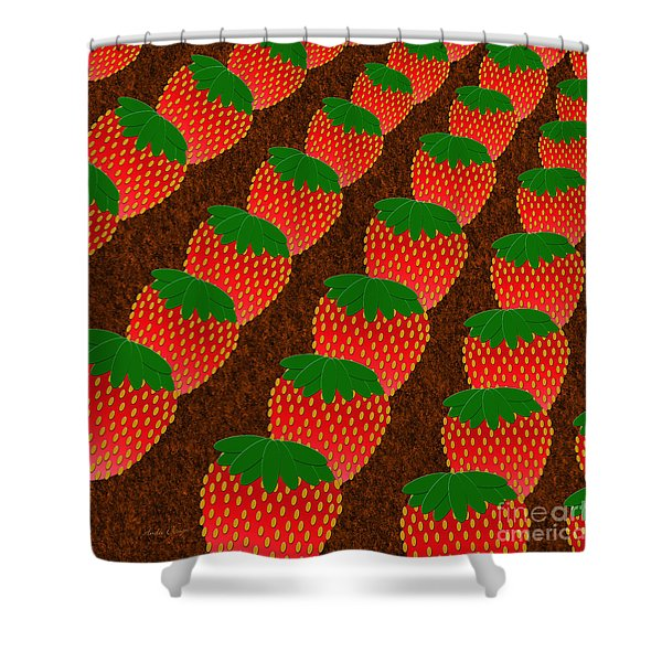 Strawberry Fields Forever Shower Curtain by Andee Design