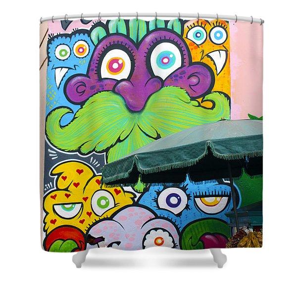 Street Art Lima Peru 2 Shower Curtain by Kurt Van Wagner