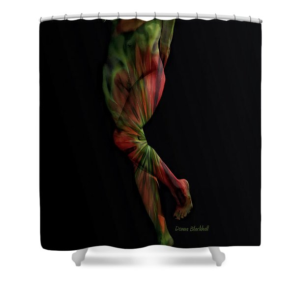 Street Artist Shower Curtain by Donna Blackhall